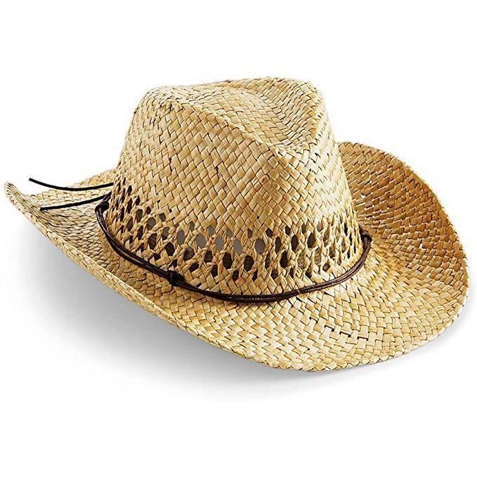 CHAPEAU - BOB Chapeau de cowboy - Pour l'été - En paille