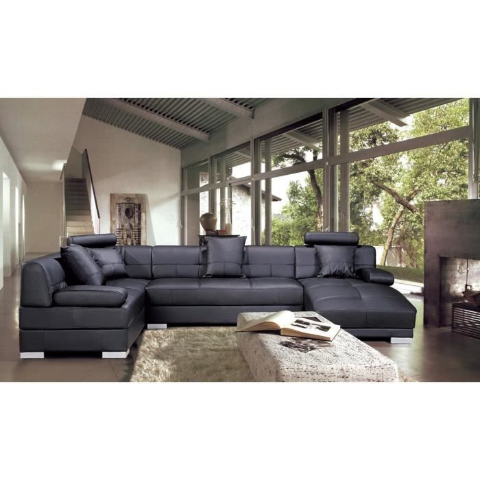 canap d 39 angle capitonn cuir noir m ridienne napoli achat vente canap sofa divan. Black Bedroom Furniture Sets. Home Design Ideas