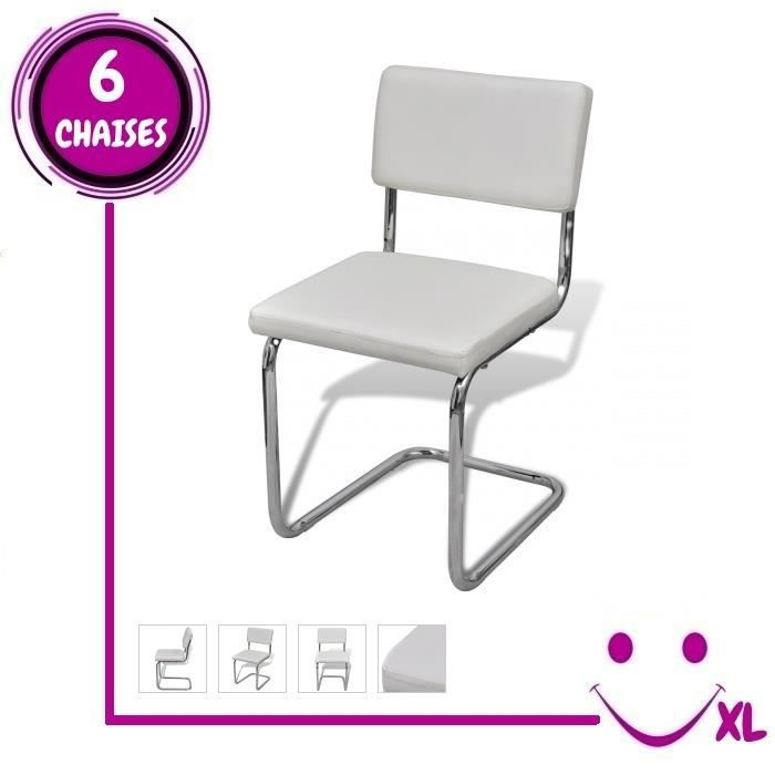 Set de 6 chaises de salon design et moderne en simili cuir for Chaise de salon design