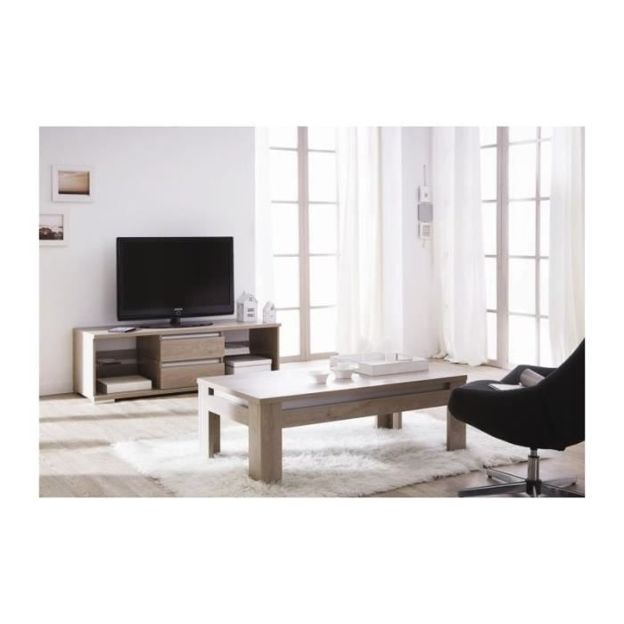 ensemble ch ne meuble tv et table basse atlanta achat. Black Bedroom Furniture Sets. Home Design Ideas