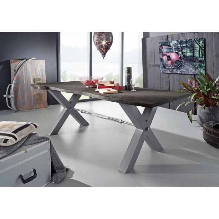 TABLE À MANGER SEULE Table à manger 200x100cm - Fer et Bois massif d'ac
