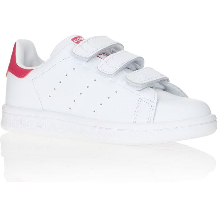 adidas originals baskets stan smith enfant blanc et rose achat vente basket cdiscount. Black Bedroom Furniture Sets. Home Design Ideas