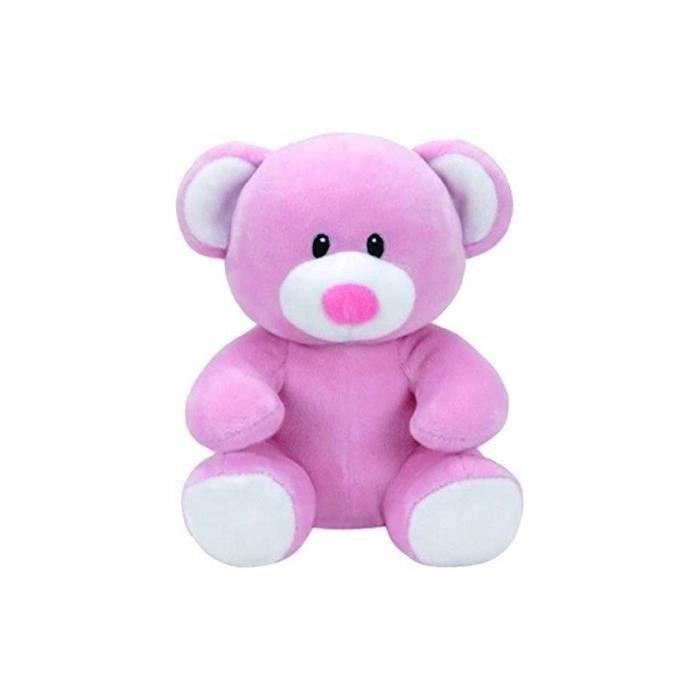 PELUCHE TY - Baby TY Peluche Lullaby l'Ours Rose 40 cm