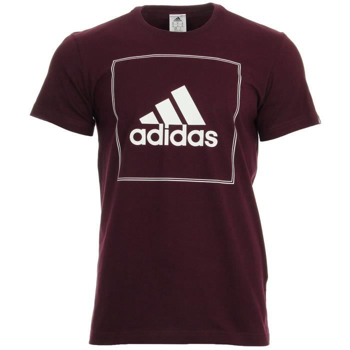 027fff38ebed8 T-shirt adidas Performance QQR Boxed Tee Violet Bordeaux, blanc ...