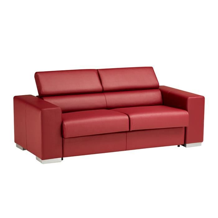 canap convertible torino cuir recycl rouge achat. Black Bedroom Furniture Sets. Home Design Ideas