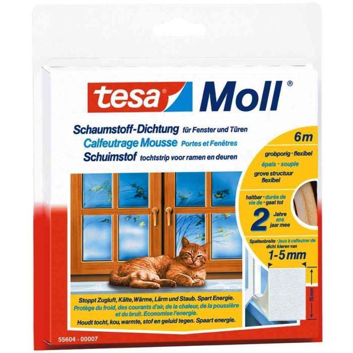 3 x Tesamoll mousse d/'étanchéité universel pour fenêtres et portes blanc