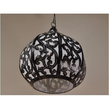 Suspension lustre en acier d co 40cm achat vente for Lustre en suspension