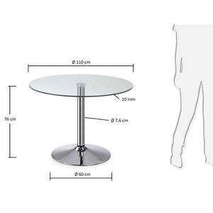 table ronde 110 cm achat vente table ronde 110 cm pas cher cdiscount. Black Bedroom Furniture Sets. Home Design Ideas
