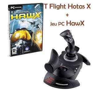 JOYSTICK JEUX VIDÉO Thrustmaster T.Flight Hotas X PC/PS3 + Jeux PC Haw
