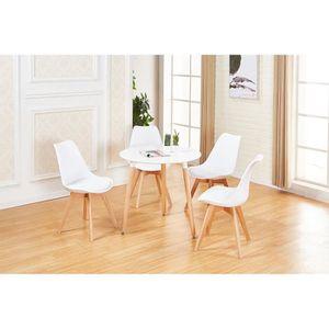 TABLE DE CUISINE  JKK Ensemble table ronde à manger style Scandinavi
