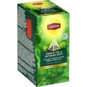 THÉ lot 12 the vert menthe intense 25 sachets lipton n