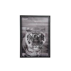 TABLEAU - TOILE Tableau Savane Tigre - Nos Envies Déco Gris