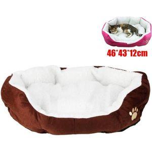 CORBEILLE - COUSSIN Panier Lit Coussin pour chien chat 46*43*12cm Marr
