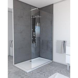 Paroi de douche pare-douche cabine de douche a l italienne verre de s/écurit/é Ravenna9 90*120*200