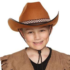 CHAPEAU - PERRUQUE Chapeau Cowboy Brun - Enfant Multicolor
