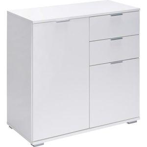 BUFFET - BAHUT  Commode »Alba« avec 2 portes tiroirs blanc Meuble