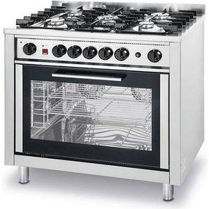 CUISINIÈRE - PIANO Piano de cuisine Cuisinière à Gaz 5 feux - Avec Fo