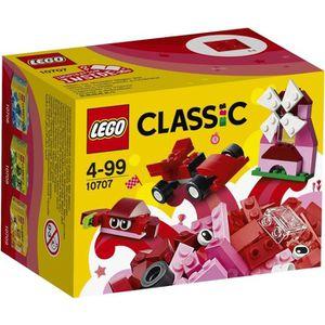 ASSEMBLAGE CONSTRUCTION LEGO® Classic 10707 Boîte de Construction rouge
