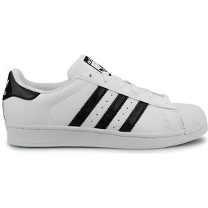 BASKET Baskets Adidas Originals Superstar J Blanc Noir