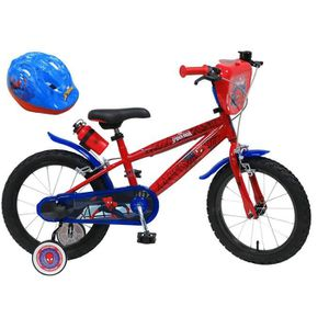 VÉLO ENFANT Vélo 16'' SPIDERMAN équipé de 2 freins, bidon/port
