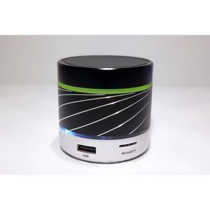 ENCEINTE NOMADE S07U lumière LED Portable Bluetooth sans fil métal