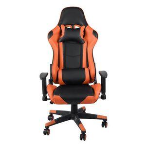 FAUTEUIL OUTAD® fauteuil de bureau gamer chaise gaming incl