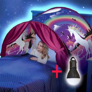 TENTE DE LIT Dream Tents jolie licorne fantasme repliables tent