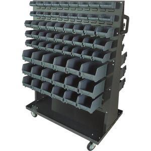 ROUE - ROULETTE Étagère sur roulettes avec 126 boites à bec TOPCAR