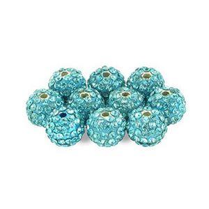 10 perles shamballa cristal strass 10mm création bijoux ENVOI RAPIDE