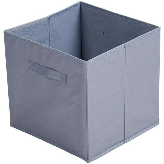 Panier Cube Boite De Rangement avec Poign/ée D/éco City Fushia 31 x 31 x 31cm Promobo