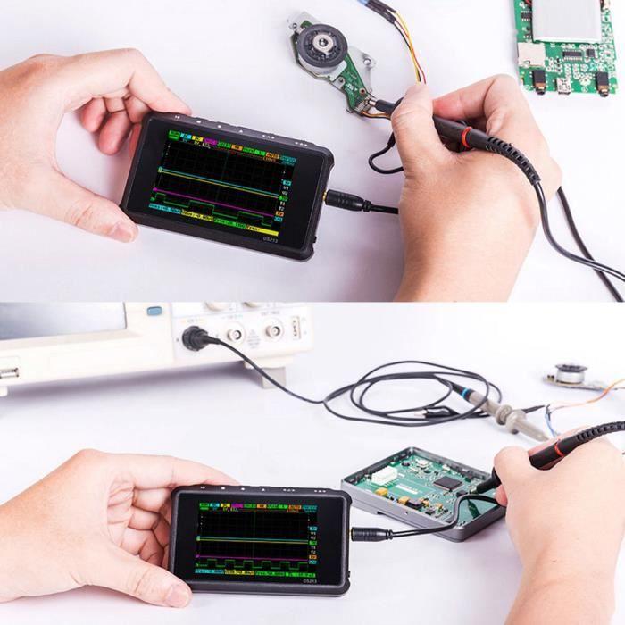 DS213 Mini oscilloscope numérique portable à 4 canaux pour stockage électronique-LAF