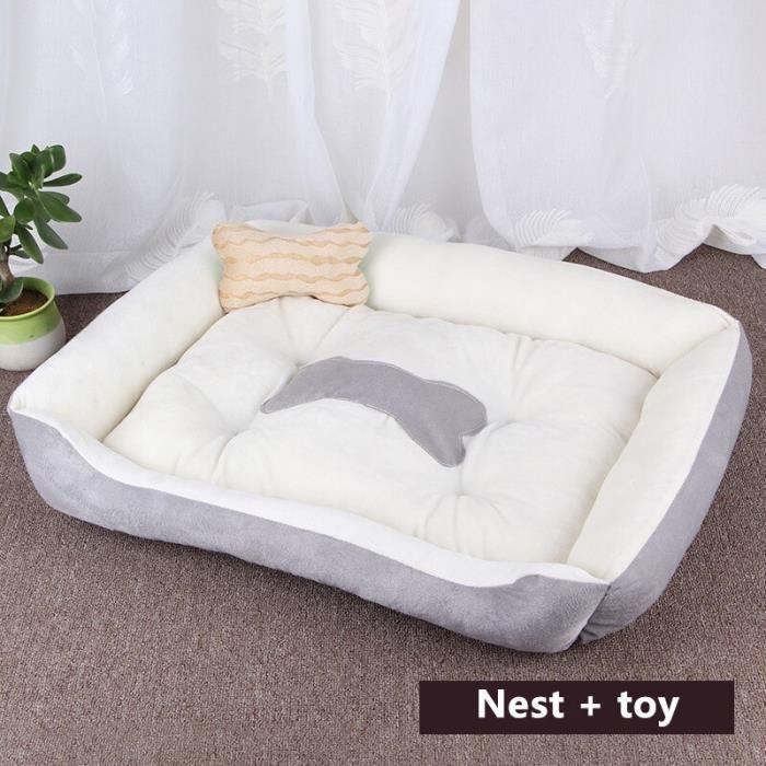 Oreiller pour animaux de compagnie, lit pour chien, tapis, canapé, maison pour chat, chiot, grande, m Brown white 1 XS -REAL23442