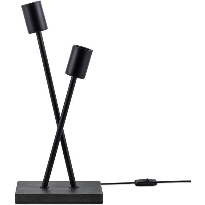 Lampadaire Lampe De Bureau Lampe LED Salon Vintage Rétro Design Industriel E27, Taille Set: ST64 verre fumé + A60 verre fumé, [1329]