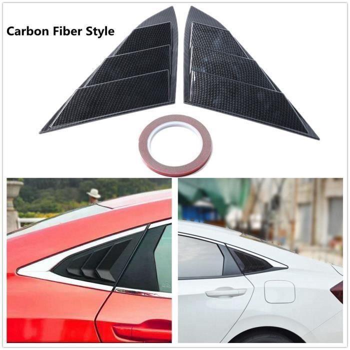 BH 2X Pare-Soleil Latéral Ventilateur Panneau Latéral pour Honda Civic 4Door 2016-2017 Carbon Fiber Style - BHAVC824A4171