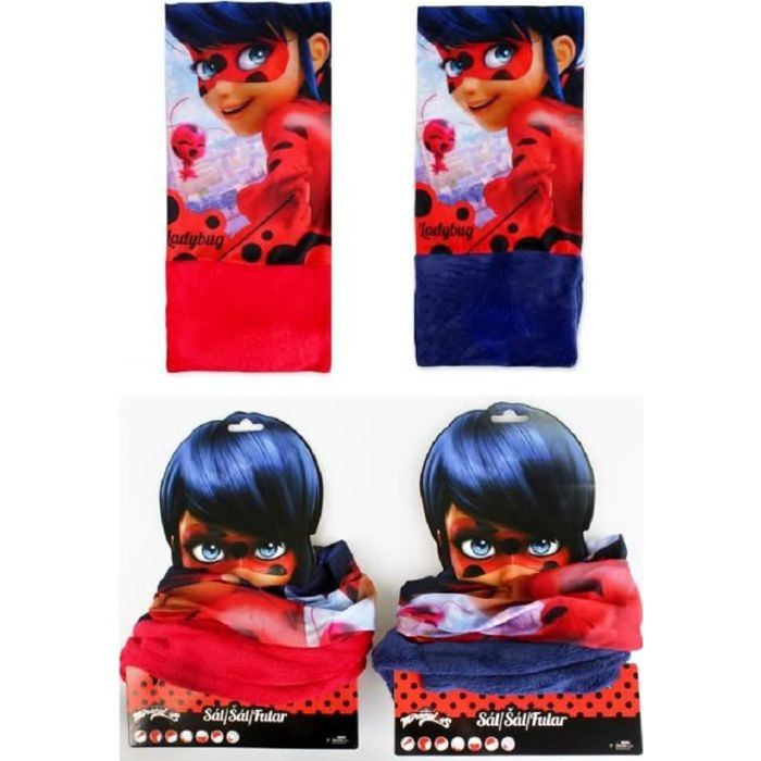 snood Miraculous, Cache cou Lady bug rouge
