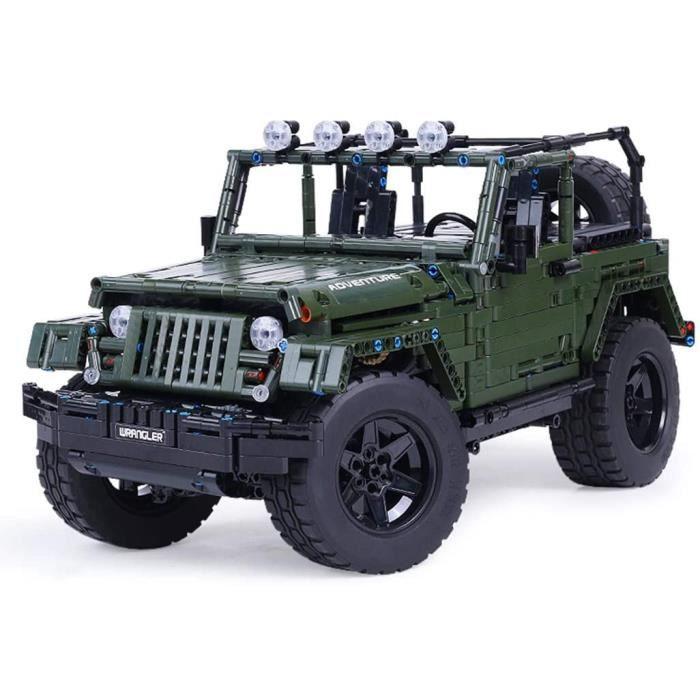 Jeux de construction TETAKE Technic Jeep Wrangler Rubicon - Maquette 1-8 Tout-Terrain à Construire - Jeux de Constructio 53033