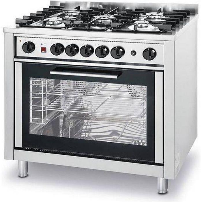 Piano de cuisine Cuisinière à Gaz 5 feux - Avec Four Électrique - 14,3kW/230V -