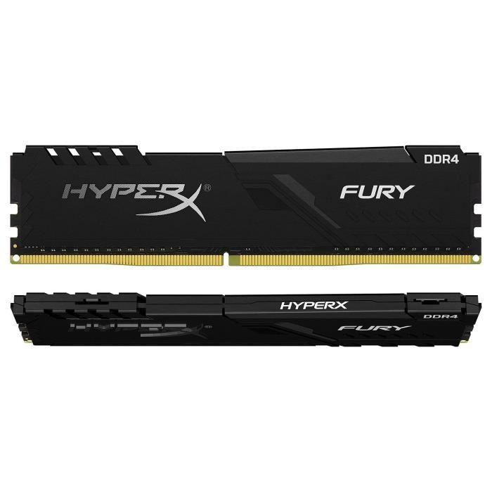 HyperX Fury 64 Go (2x 32 Go) DDR4 3000 MHz CL16 - Kit Dual...