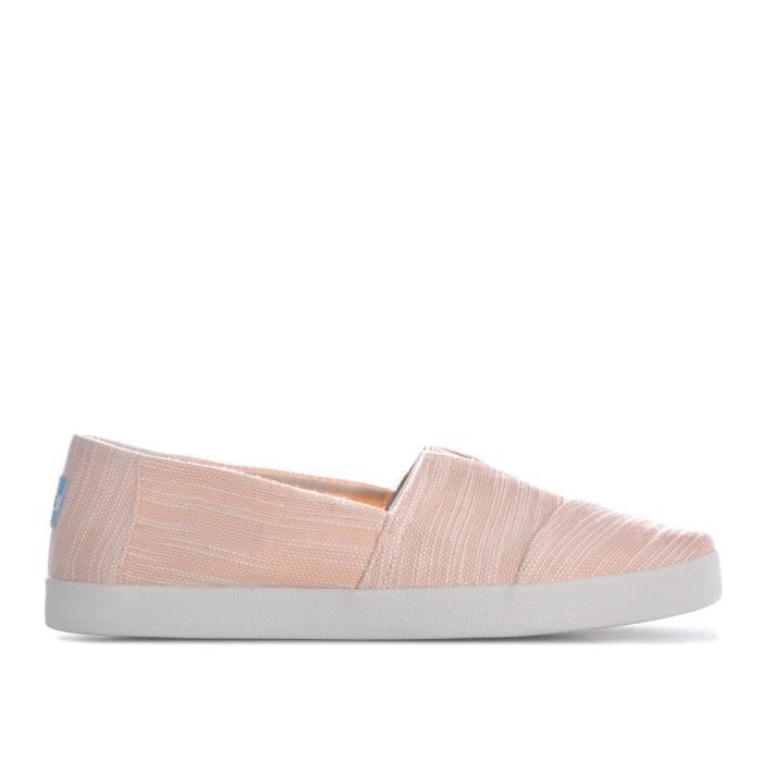 Espadrilles Toms Avalon Slubby Cotton pour femme en rose pastel