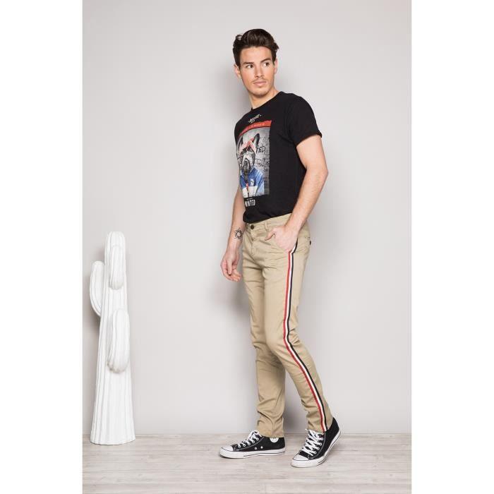 Pantalon Chino slim avec bandes - BANDIT
