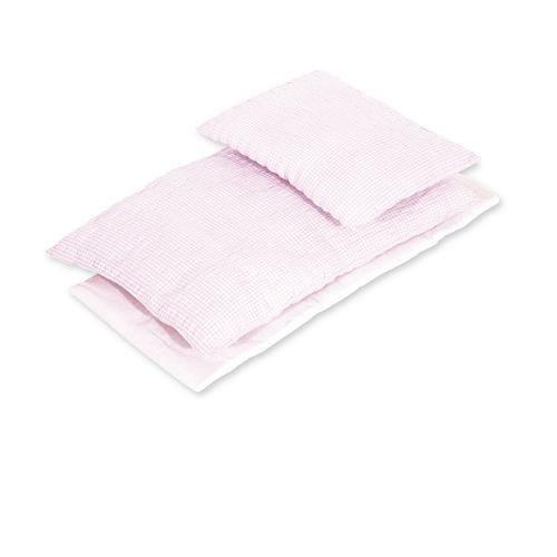 Textile 3 pièces pour lit de poupée - Vichy rose