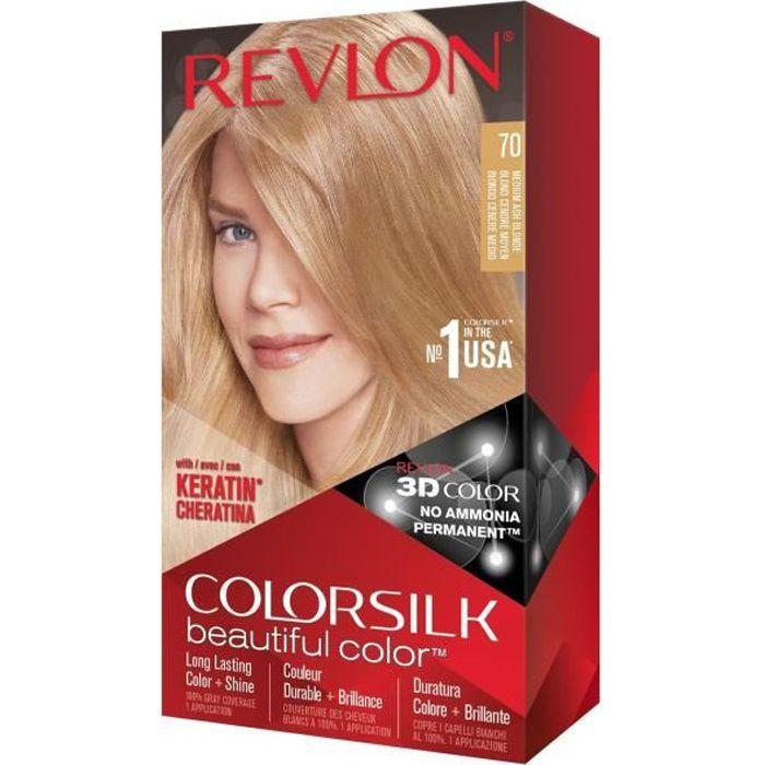 COLORSILK Coloration N°70 - Blond cendré moyen - 59,1 ml