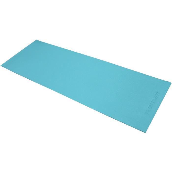 TUNTURI Tapis de Yoga en PVC 4mm Bleu Turquoise