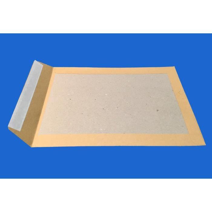 10 enveloppe DOS CARTON RIGIDE A4 pochette MARRON C4 229 X 324 poche sac rigide pour envoi sans plier enveloppe cartonnée au verso a