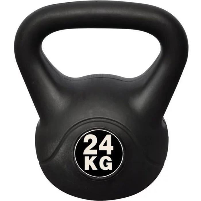 Kettlebell Girevoy haltère de 24 kg en ciment et plastique 24 x 30 x 34 cm NOIR
