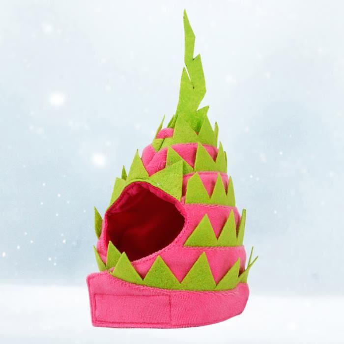 Drôle Pet Head Cap Dragon Fruit Forme Chapeau Fantaisie Chapeaux De Noël Décoration CARILLON A VENT - CARILLON EOLIEN