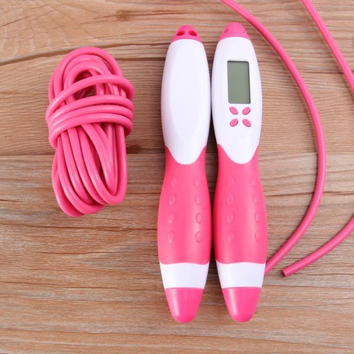 1pc corde à sauter de comptage électrique accessoires de sport portables durables robustes pour la formation COMPILATION