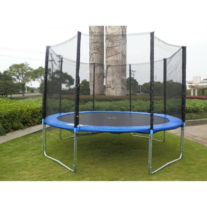 grand trampoline de 4m30 avec filet achat vente trampoline cdiscount. Black Bedroom Furniture Sets. Home Design Ideas