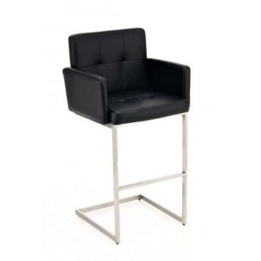 fauteuil de bar en simili cuir nuccia noir achat. Black Bedroom Furniture Sets. Home Design Ideas