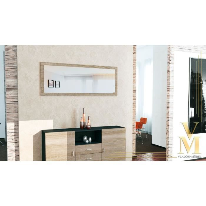 miroir mural bois brut 139 cm achat vente miroir cdiscount. Black Bedroom Furniture Sets. Home Design Ideas
